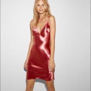 Express Satin Strappy Sheath Dress